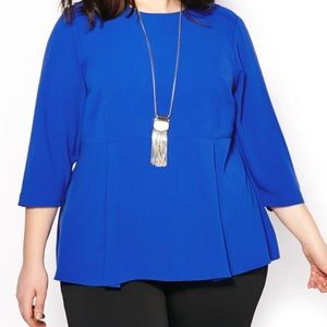 Melissa McCarthy Seven blue peplum blouse